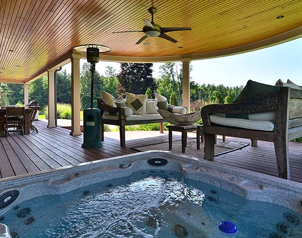 34 best hot tubs images on pinterest | backyard ideas, patio ideas ... - Patio Ideas With Hot Tub