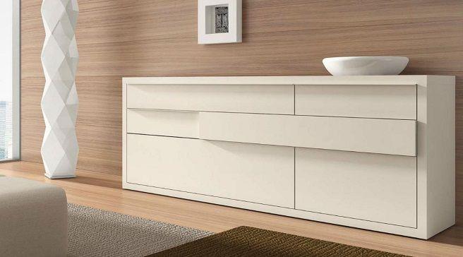 Aparador blanco muebles para mantener el comedor - Mueble aparador para comedor ...