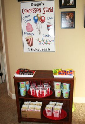 Movie Night party - concession stand..did that for my 12th bday party.(: