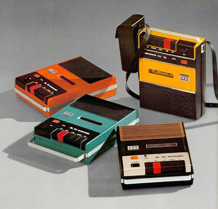 1973 tape deck - we played music cassettes. No ipods back then!