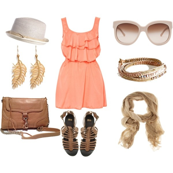 splash of peach, created by moesuckra on Polyvore: Polyvore Yesyesyesssss, Glasses Cheetahs, Cute Outfits, Cute Summer Outfits, Summer Breeze, Favorite Summer, Summer Colors, Create, Peaches Dresses