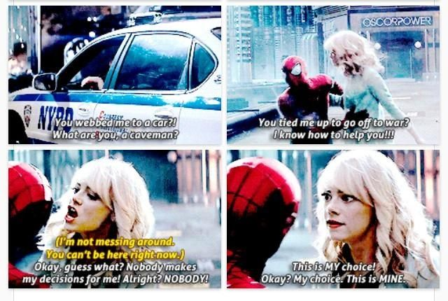 Gwen Stacy and Peter Parker!