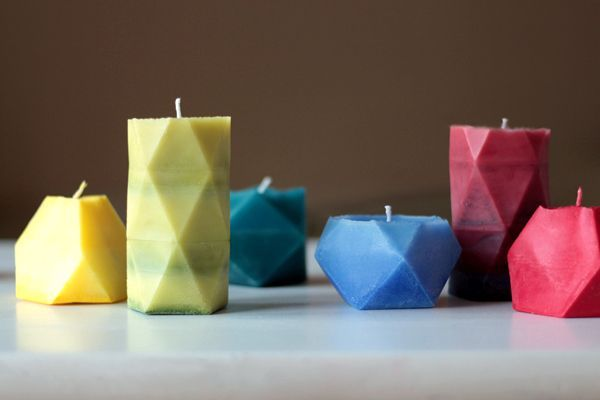 DIY: faceted candles
