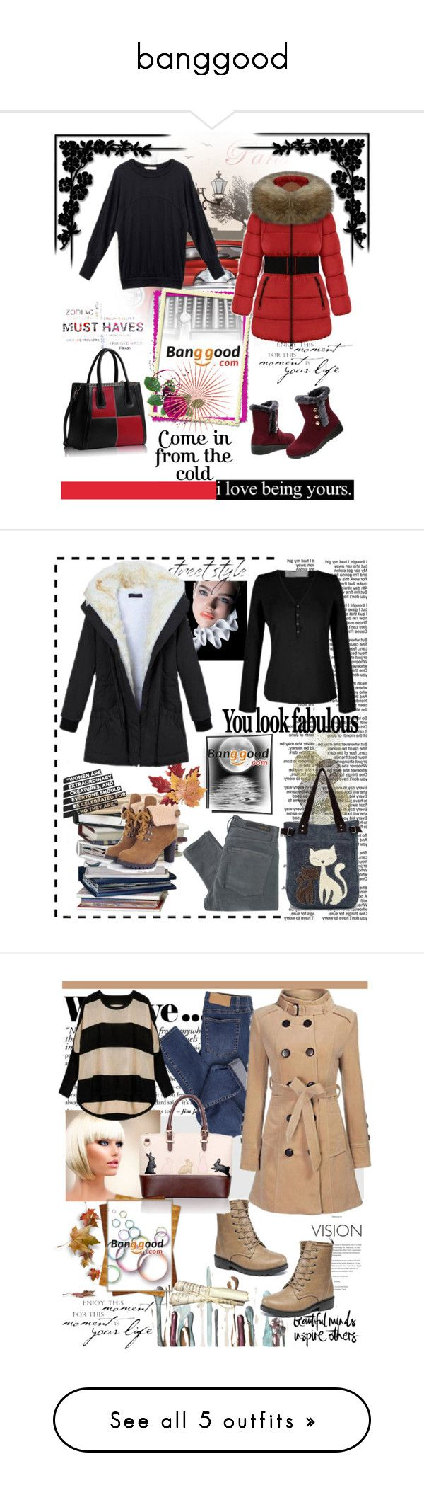 """banggood"" by amelakafedic ❤ liked on Polyvore featuring Emilio Pucci, Winter, nice, Boots, BangGood, Amira, Universal Lighting and Decor, Nobody Denim, Croft & Barrow and Zara"