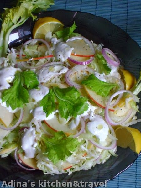 Adina's kitchen & travel: Salata de telina Apio si mere
