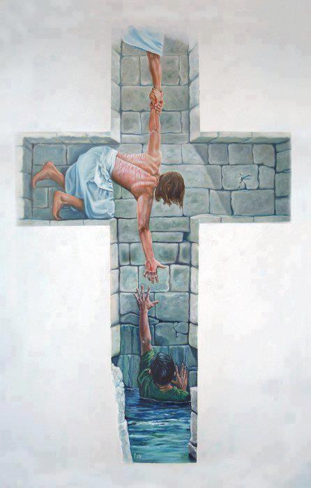 """""""En efecto, la cruz de Cristo es la cumbre del amor, que nos da la salvación. Él mismo lo dice en el Evangelio de hoy: """"Y como Moisés elevó la serpiente en el desierto, así tiene que ser elevado el Hijo del hombre, para que todo el que crea tenga en él la vida eterna (Jn. 3,14-15)."""" Benedicto XVI"""