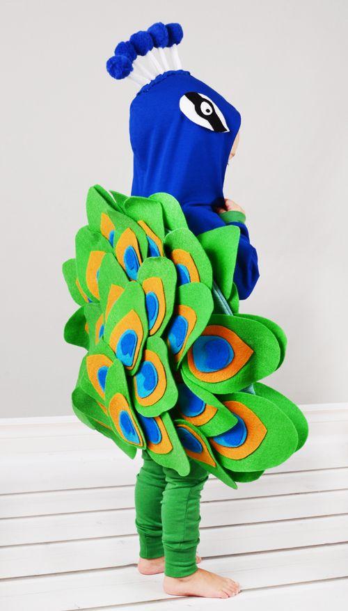 Handmade Halloween peacock costume!!
