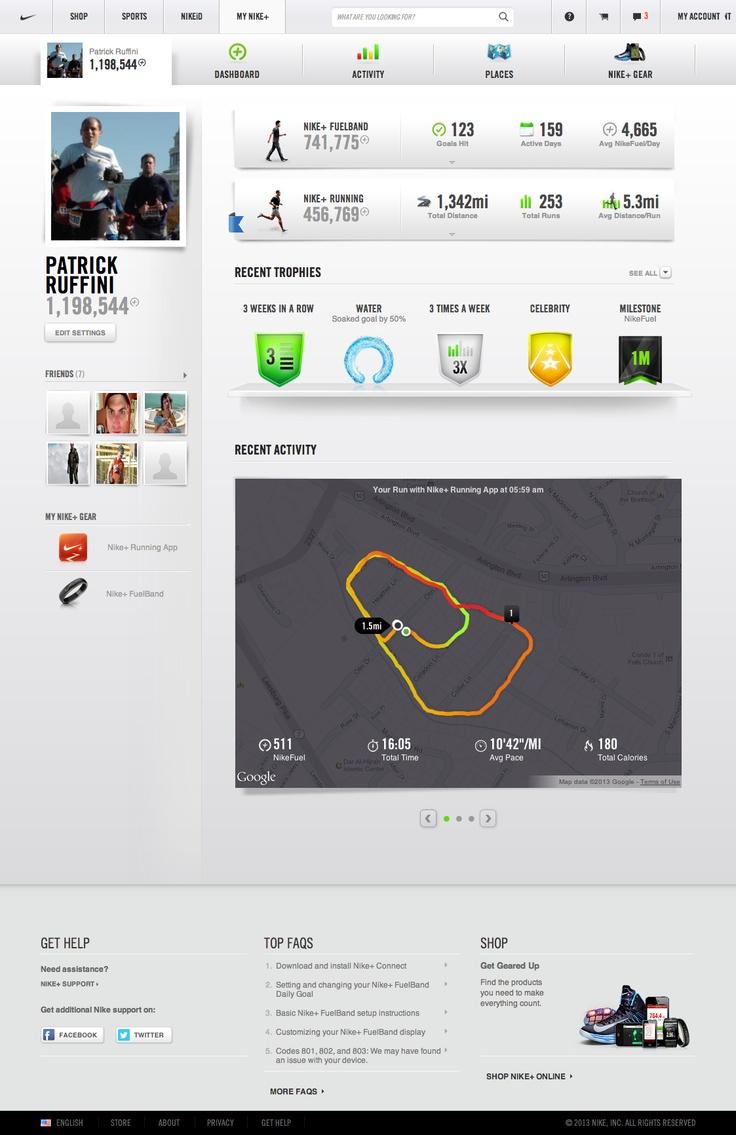 Love, love, love the Nike+ interface