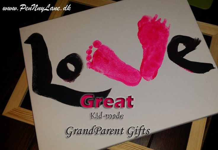 Great kidmade gifts for grandparents. Want to make something special for your childrens grandparents? Here are some great ideas. Visit www.pennnylane.dk for other family diy's and recipes.