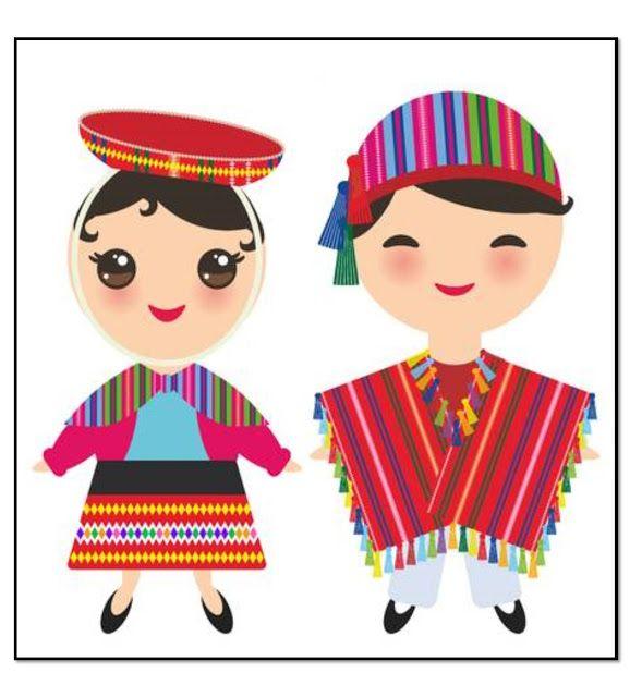Tareas Vestimenta Andina Ninos Dibujos Animados Dibujos Felices Fiestas Patrias Peru
