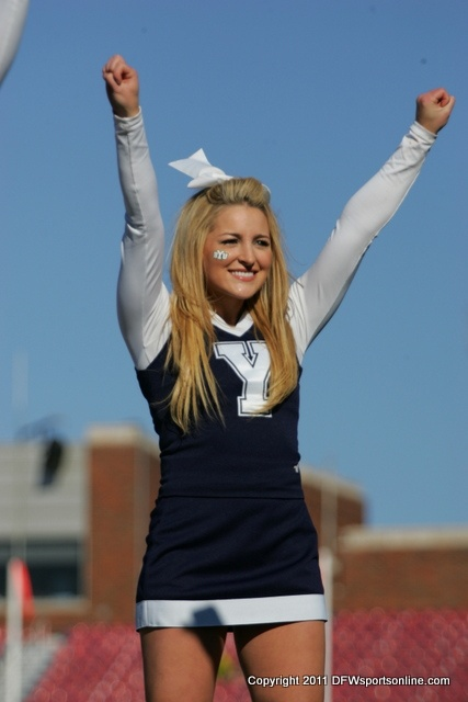 """HI4K4591 by dfwsportsonline, via Flickr BYU   cheerleading cheerleader  - MormonFavorites.com  """"I cannot believe how many LDS resources I found... It's about time someone thought of this!""""   - MormonFavorites.com"""