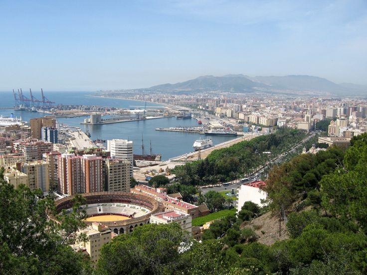 Malaga, Spain, Port view
