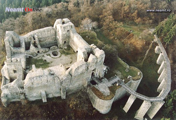 Ruins of the Neamt fortress, Romania