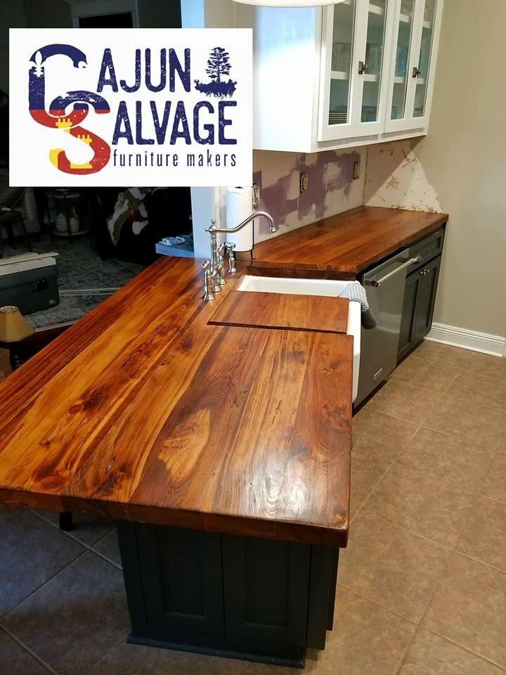 Reclaimed Barn Wood Countertops Lafayette Louisiana Real Furniture Custom