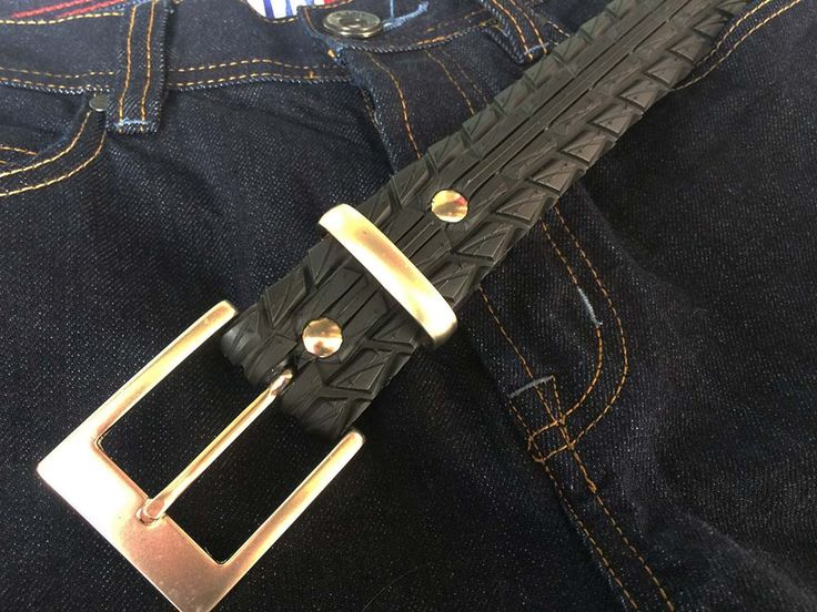 Recycled/Upcycled bicycle tyre/tire belt  Vegan belt  Vegetarian belt made by Laura Zabo