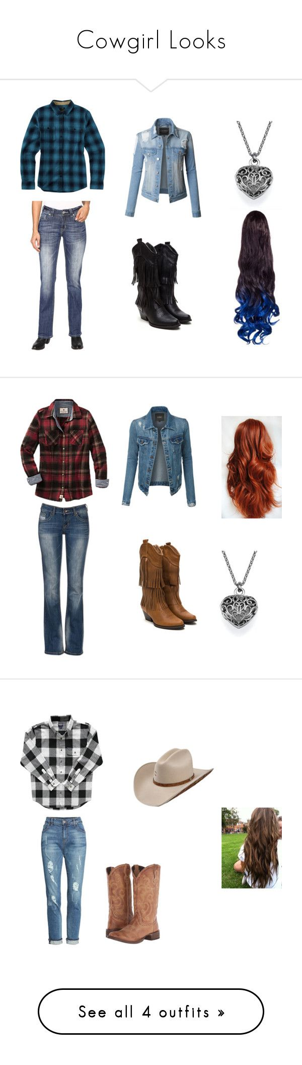 """Cowgirl Looks"" by shadowwolf16 on Polyvore featuring Rock & Roll Cowgirl, LE3NO, Burton, Ultimate, KUT from the Kloth, Roper, prAna, Lands' End, Corral and River Island"
