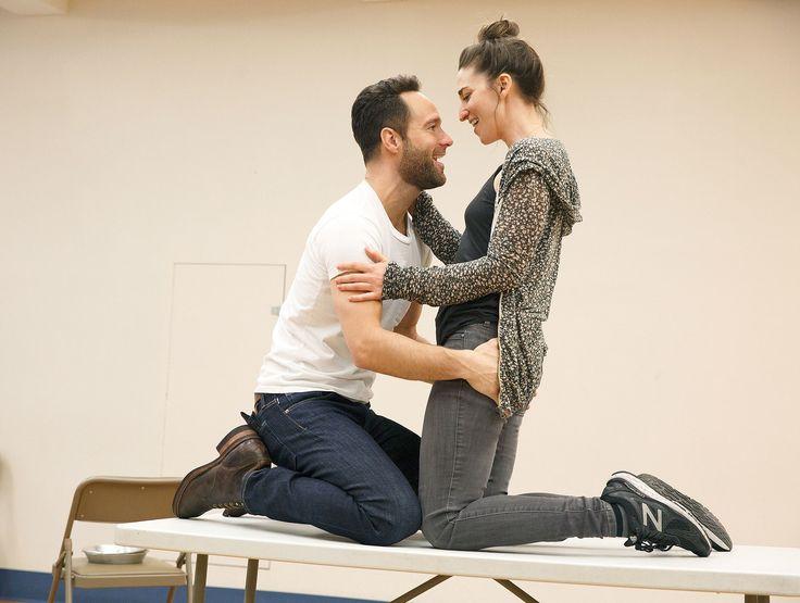 Sara Bareilles Rehearses for Broadway's 'Waitress' with Chris Diamantopoulos