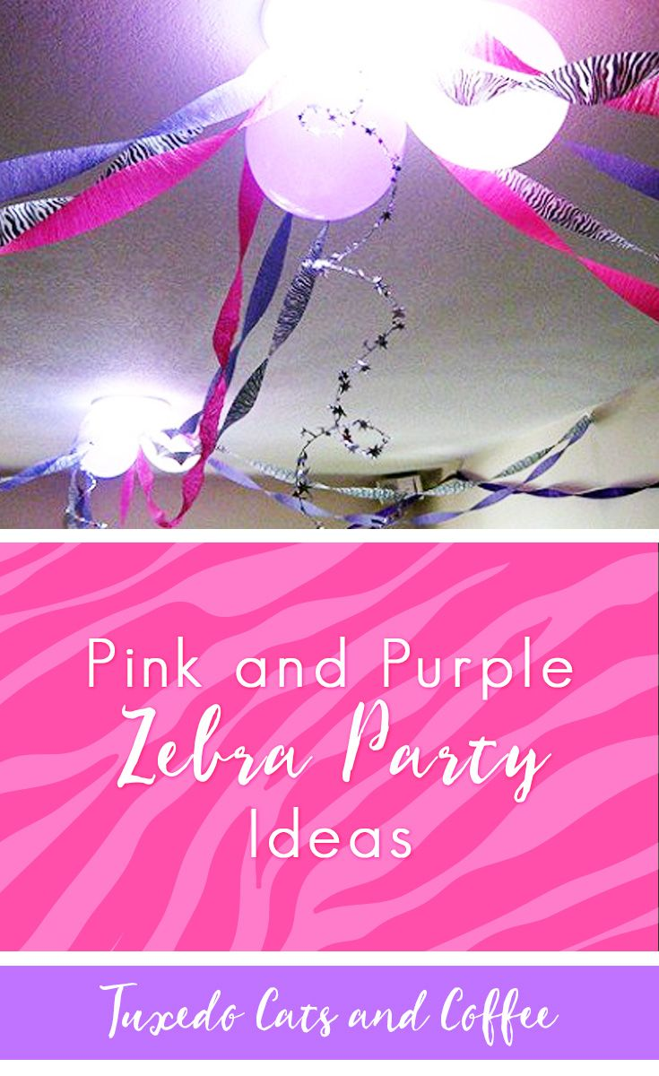 Plan a Perfect Pink and Purple Zebra Party! This bold and colorful pink and purple zebra party theme will be a hit with teen girls, especially for birthdays and sweet sixteen celebrations. It's also a great theme for bachelorette parties and bridal showers! #zebraparty #pinkparty #purpleparty #pinkpurpleparty #zebrapartyideas