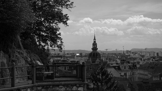 At the Schlossberg (castle mountain) of Graz, Austria.