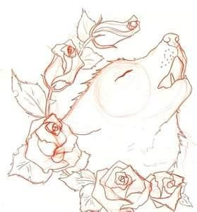 Wolf Rose Tattoo. Really like this one since I love wolves and I plan on getting a wolf tattoo when I'm older