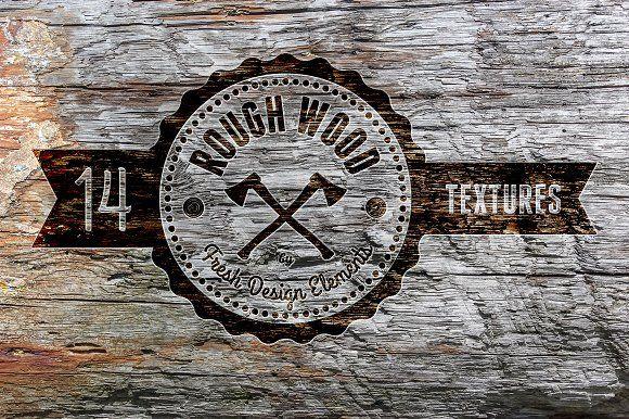 Rough Wood Texture Set - 14 HR by Fresh Design Elements on @creativemarket