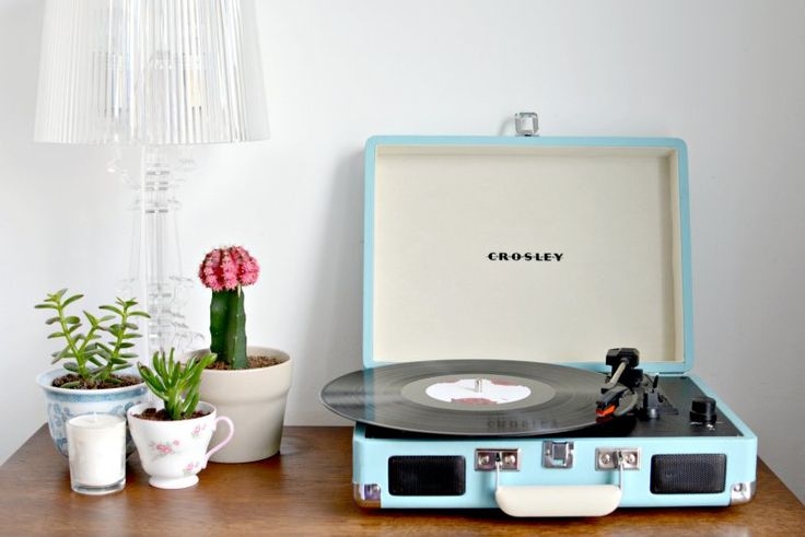 new in | crosley record player