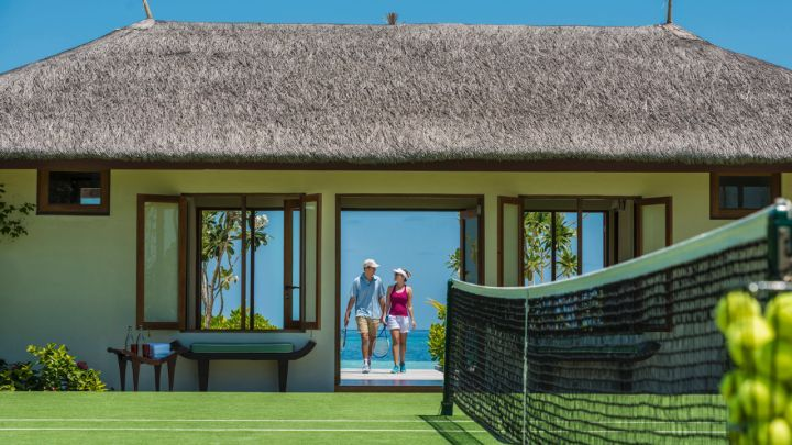 Take a break from aquatic activities to practice your tennis skills or take lessons from our on-site tennis pro at Four Seasons Resorts Maldives at #KudaHuraa. info@tropicsurf.net