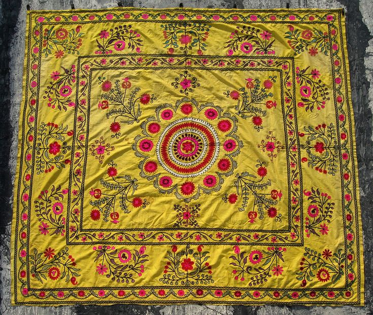 This Suzani reminds me of my Moghul table top in the cross-pointTM collection