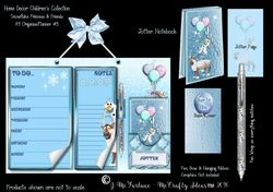 Snowflake Princess A4  Hanging Organiser Planner   Jotter  3 on Craftsuprint - View Now!