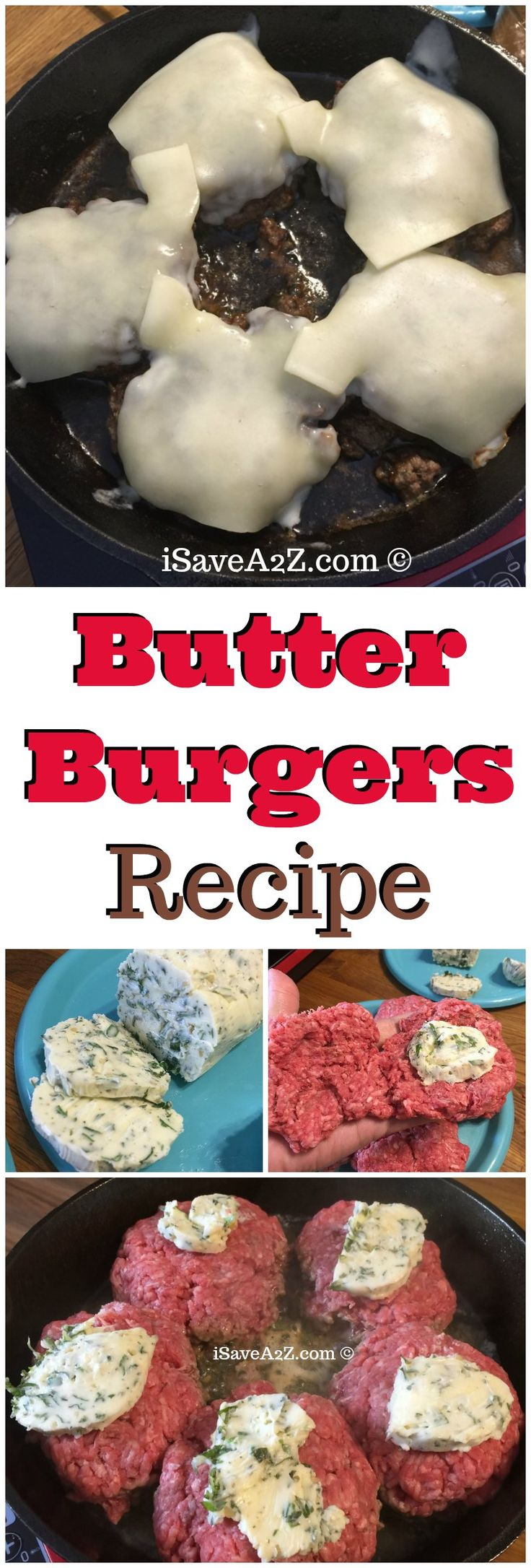 Butter Burgers Recipe TO DIE FOR!!  Keto Friendly and Low Carb too! via @isavea2z