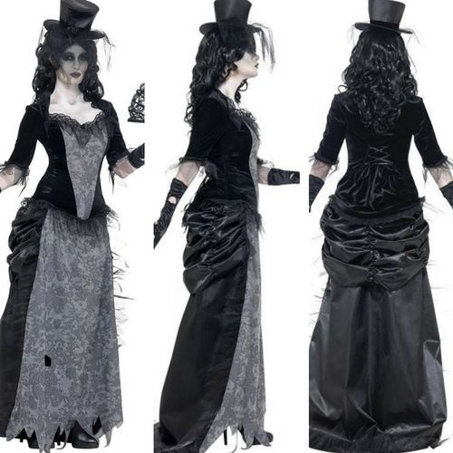 Halloween Bride Gothic Vampiress Costume Queen Dracula Ladies Vampire Outfit