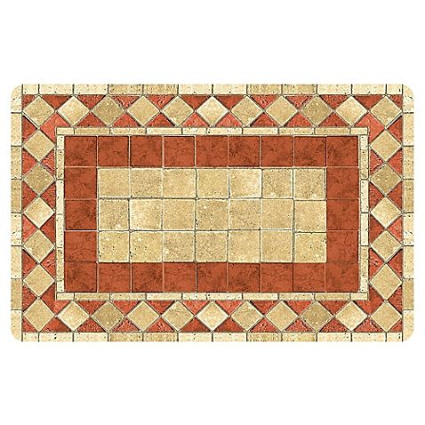 The Softer Side by Weather Guard™ Red Tile Mosaic Kitchen Mat