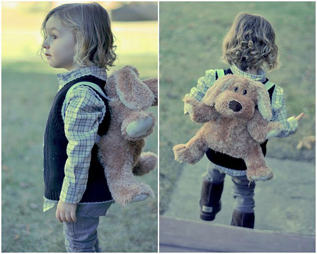 What a great way to repurpose stuffed animals! Stuffed Animal Backpack Tutorial