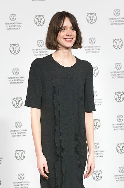 Stacy Martin at the 'The Childhood Of A Leader' premiere at the International Rotterdam Film Festival on February 6, 2016 in The Netherlands.