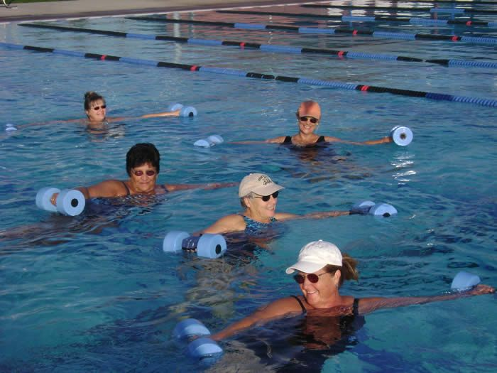 Katina is one of the top water instructors in the country.  Hard to beat the workout you can get with water aerobics - at any age.