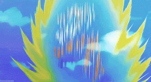 Resultado de imagem para dragon ball z gifs goku ssj3 transformação
