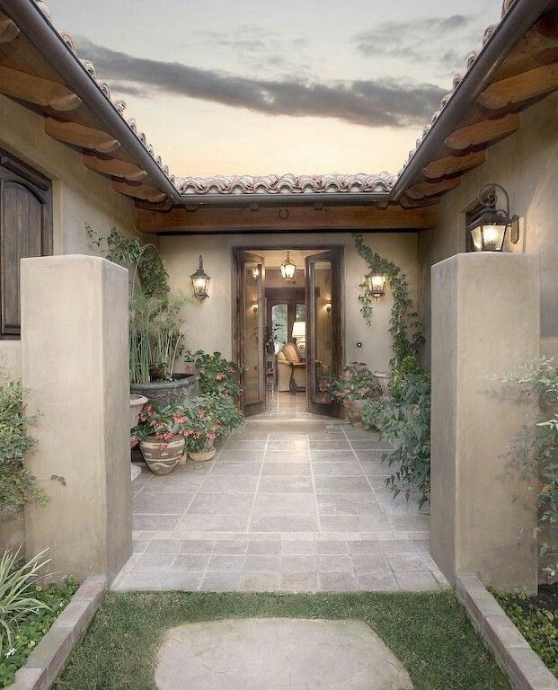 Pin By Rabab Qadan On Outdoor Space Spanish Style Homes House Exterior Courtyard House