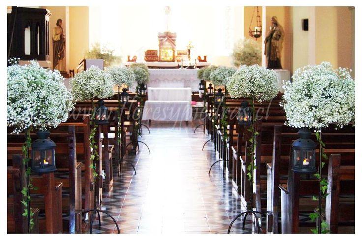 Decoracion Iglesia Boda Vintage ~   Iglesia, Bodas Campestre, Arreglos Florales Para Iglesia, Piedras Www