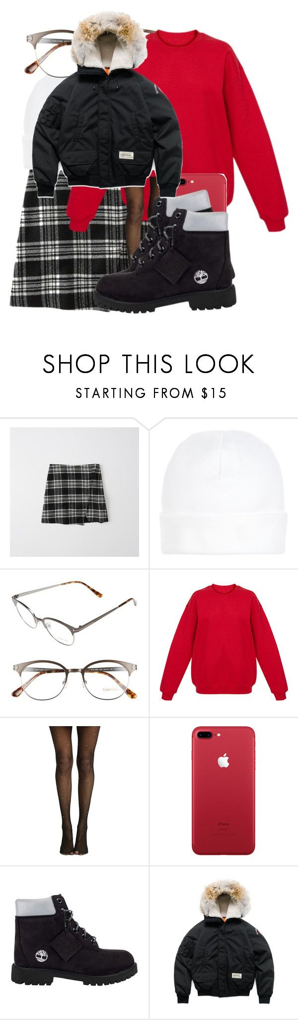 """""""Untitled #4848"""" by dianna-argons-lover ❤ liked on Polyvore featuring Abercrombie & Fitch, Ralph Lauren, Tom Ford, Hot Topic, Timberland and Canada Goose"""
