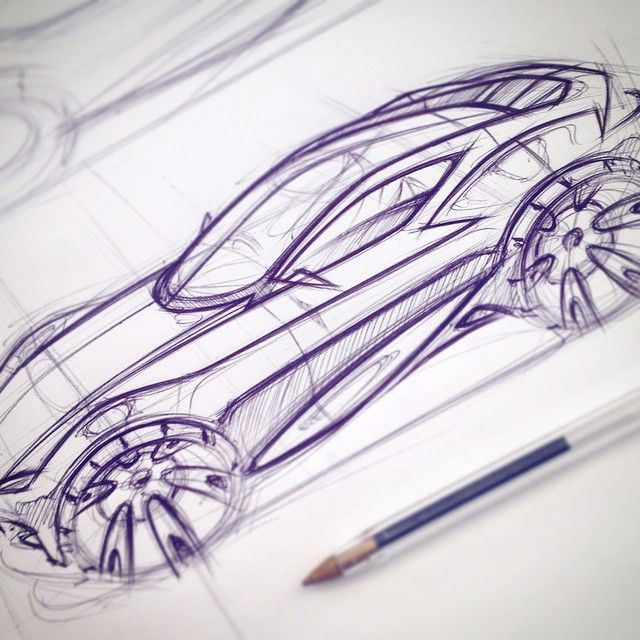 Early concept development sketch for my major project #ford #notashootingbrakeyet #conceptcar #sketch #automotivedesign #cardesign #uwtsd #novus15