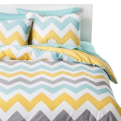 I want this for our guest room!!!!! Room Essentials® Chevron Duvet Cover Set.