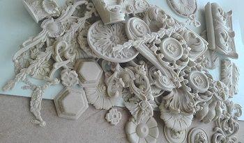 Декоративные накладки из полиуретана на мебель и фасады