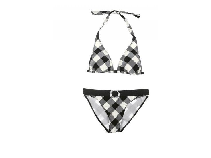 plavky Olympia 31161 sexy černobílá kombinace barev  trojuhelníkové bikini