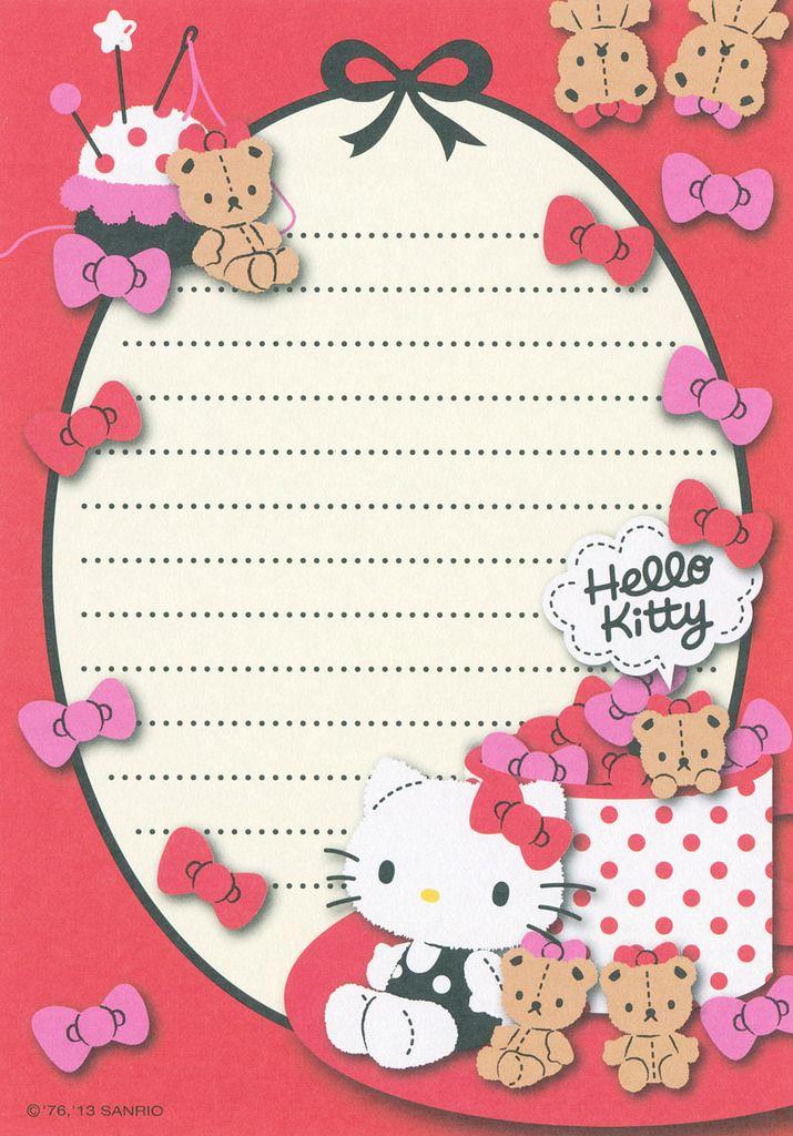 Sanrio Hello Kitty #papeldecarta #letterpaper