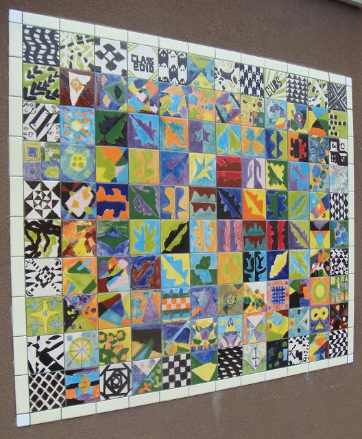 Collaborative Student Projects ~ Tile murals idea for school mural this year … pinteres…