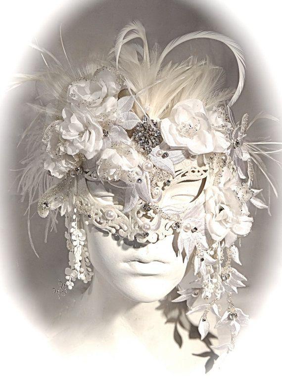 Venetian Bride Masquerade Mask Carnival Masks by Marcellefinery