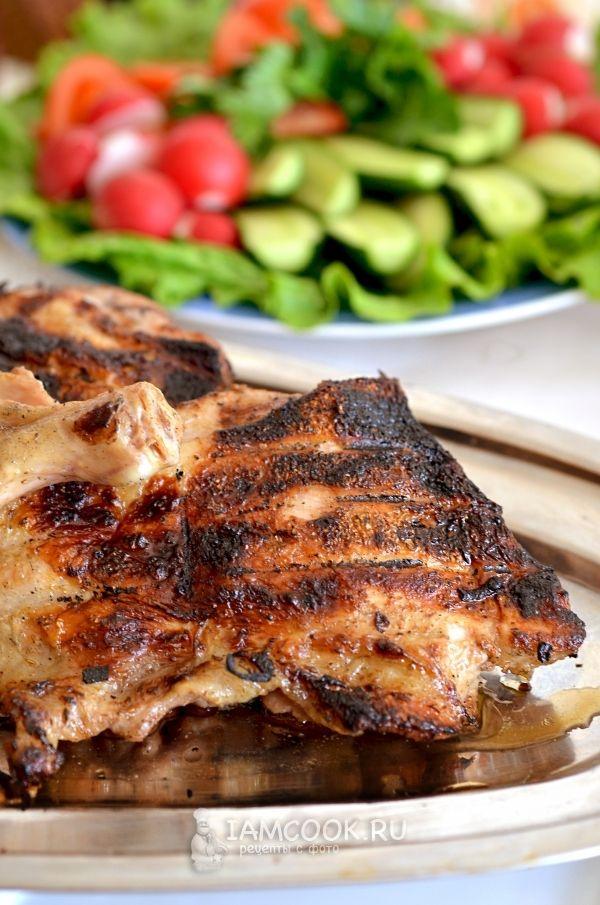 Рецепт сочных куриных окорочков на решетке