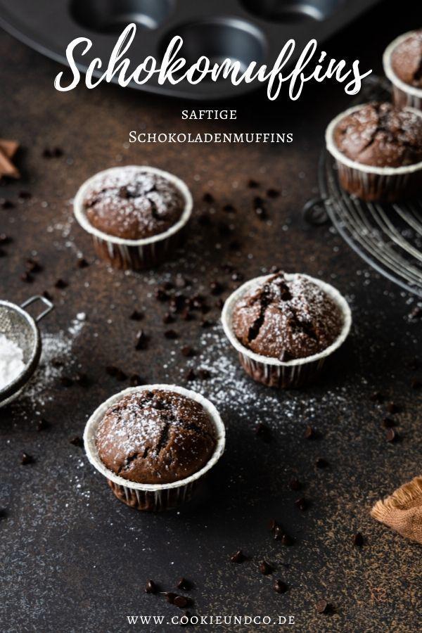 Schokomuffins Saftige Schokoladenmuffins Cookie Und Co In 2020 Schokomuffins Schokoladenmuffins Gesunde Muffin Rezepte