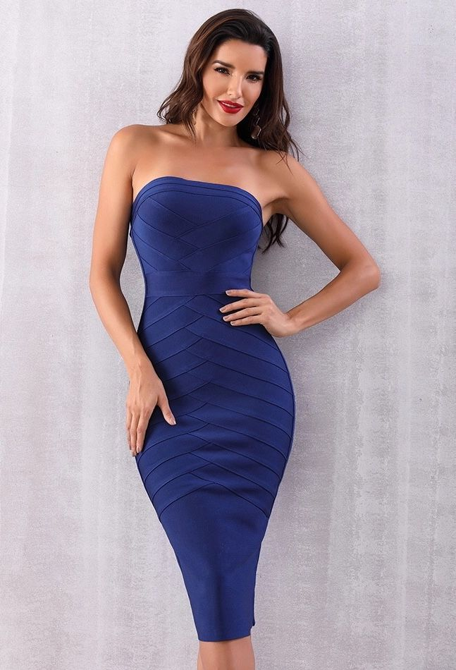 02e999b234 Strapless Midi Dress Bodycon Dress  99.00 Get this gorgeous dress for your  night Excellent quality of fabric Beautiful and classic style Would be  perfect ...
