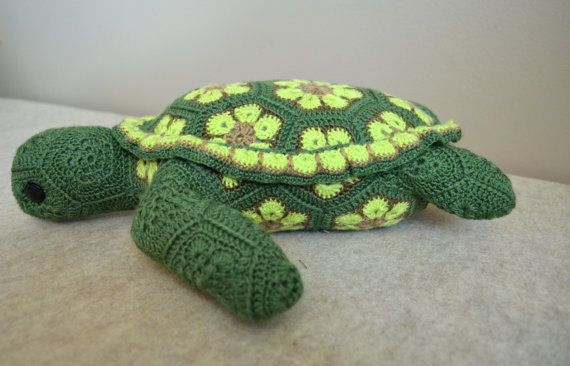 Stuffed Sea Turtle Toy made from Crochet by LauraBolekCreations